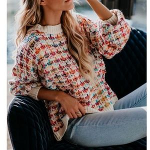 BERNICE Multi Color Knit Pullover Sweater